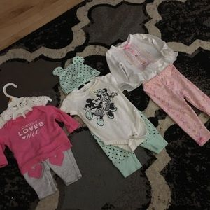3 baby girl outfits NB-3m
